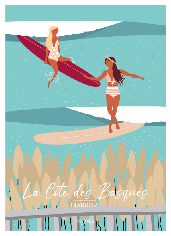 Posters - Poster de surf Biarritz - viktoria