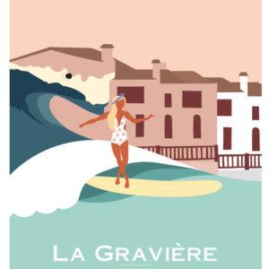 Affiche de surf Hossegor