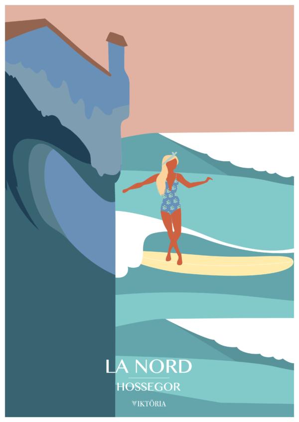 Affiches - Affiche de surf Hossegor - viktoria