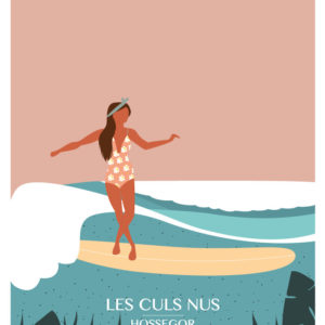women on waves, illustration de surf