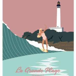 Affiches - Affiche de surf Biarritz - viktoria