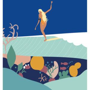 Affiches - Affiche de surf Imsouane- viktoria