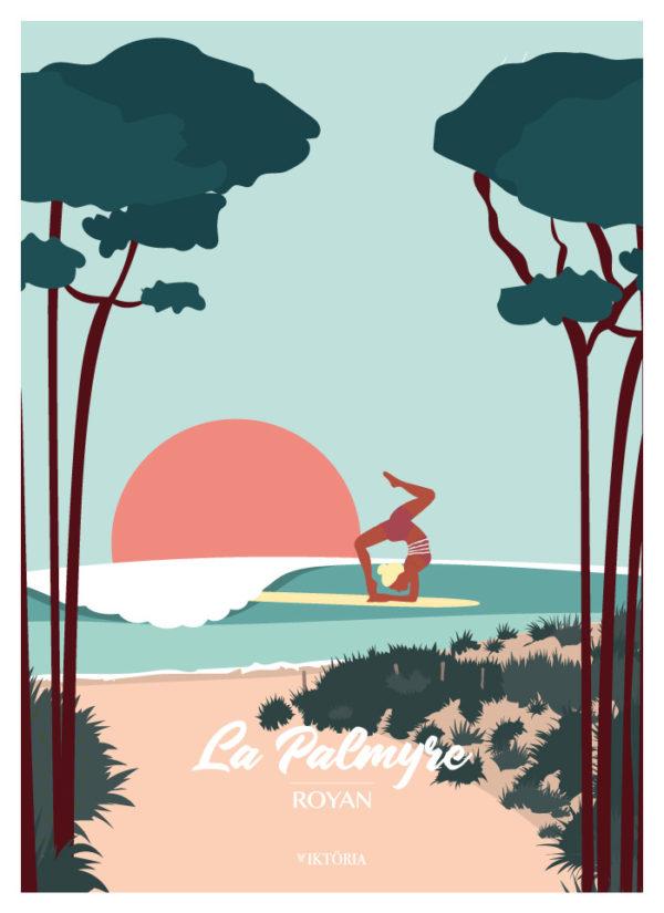 Affiches - Affiche de surf Royan- Poster- viktoria