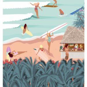 Affiches - Affiche de surf TROPIQUES- viktoria