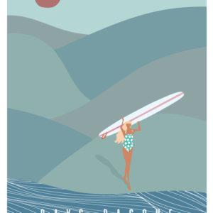 Affiche de surf Pays Basque