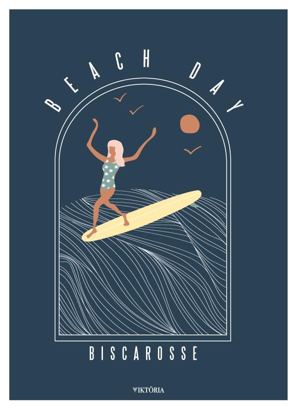Affiche de surf Biscarosse