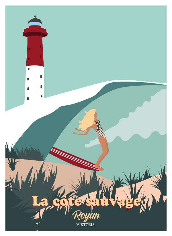 Royan - la côte sauvage - affiche